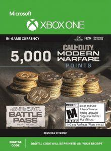 خرید CP 5000 تایی Call Of Duty Warzone ایکس باکس