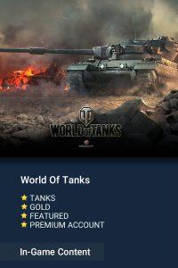 خرید آیتم های بازی World Of Tanks