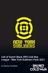 پک Call of Duty League New York Subliners Pack 2021