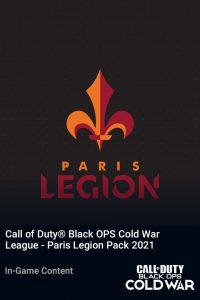 پک Call of Duty League Paris Legion Pack 2021