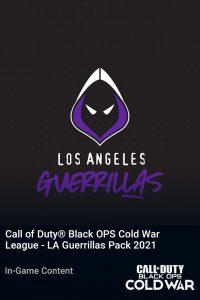 پک Call of Duty League LA Guerrillas Pack 2021